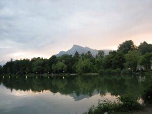 Untersberg (vom Leopoldskroner Weiher aus)